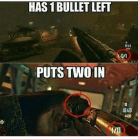 Click, Destiny, and Halo: HAS 1 BULLET LEFT  PUTS TWO IN  1840  1840  4400 CLICK THAT LIKE BUTTON!❤ Follow @gamiing.memes (me) for more content!👍 - Via: ? - Partners 🔥@gamiing.revelation 💪@get.noscoped 😎@cod.place 🤓@jaxramse 💯@official.gaming.memes - Use GAMIINGMEMES 👍😎 - ❌Tags (ignore)❌ callofduty battlefield halo xbox battlefield1 cod mwr iw gamingmemes battlefield playstation ps4 gaming pc overwatch destiny memes instagram videogames blackops2 rainbowsixsiege pcgaming xboxone codmemes gta gtav csgo
