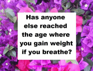 Memes, 🤖, and Yes: Has anyone  else reached  the age where  you gain weight  if you breathe? #yes