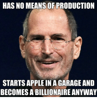 Apple, Appl, and Anarchyball: HAS NO MEANS OF PRODUCTION  STARTS APPLE IN A GARAGE AND  BECOMES A BILLIONAIRE ANYWAY Svetoslav Svetlozarov
