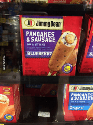 Im a German on vacation in Florida. You guys are some disgusting bastards: HASH BROWNS  Jimmy Dean  PANCAKES  & SAUSAGE  ON A STICK!  pancake batter covering  BLUEBERRY  ROTS  6q  12 STICKS  Original  C 11) Jimmy D  PANCAHES  2  & SAUSAG  ON A STICKI  Original  6  9 Im a German on vacation in Florida. You guys are some disgusting bastards