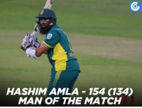 Memes, 🤖, and Hashim Amla: HASHIMAMLA 154 (134D  MAN OF THE MATCH Hashim Amla was awarded the man of the match for his 134-ball 154 runs.