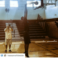 @miamiheat center Hassan Whiteside can touch rim without jumping. Most of us can't touch rim while jumping. 😂🏀😂: hassan whiteside @miamiheat center Hassan Whiteside can touch rim without jumping. Most of us can't touch rim while jumping. 😂🏀😂