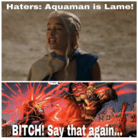 Haters: Aquaman is Lame!  BITCH! Say that again... SAY THAT AGAIN!!!........ #kuba