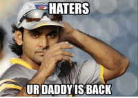Ended the worst loosing steak of Pakistan  That's professional for you: HATERS  URDADDY IS BACK Ended the worst loosing steak of Pakistan  That's professional for you