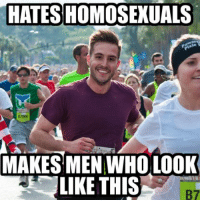 Scumbag God........: HATES HOMOSEXUALS  MAKES MEN WHO LOOK  LIKE THIS Scumbag God........