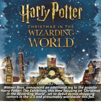 Christmas, Fall, and Harry Potter: Hatly Potter  CHRISTMAS IN THE  WIZARDING  WORLD  Warner Bros. announced an additional leg to the popular  Harry Potter: The Exhibition, this time focusing on 'Christmas  in the Wizarding World', set to debut across shoppin  centers in the U.S and presumably worldwide this fa NEWS | Snitch Seeker ⠀⠀⠀⠀⠀⠀⠀⠀⠀⠀⠀⠀⠀ — Launching fall 2017 in selected shopping venues, Christmas in the Wizarding World is a holiday experience inspired by the Harry Potter film series, which will feature beautifully crafted settings and showcase unique experiences sure to dazzle families of all ages. – Key features of the experience include: • Ollivanders™, where guests will be able to experience a holiday surprise with the help of the Wandkeeper, amid soaring shelves of hundreds of precariously stacked wand boxes. • A memorable photo opportunity, featuring a number of background options from the Harry Potter films, where guests can purchase a keepsake of their Christmas in the Wizarding World experience. ⠀⠀⠀⠀⠀⠀⠀⠀⠀⠀⠀⠀⠀ • Throughout the attraction, animated windows will bring the iconic shops from the films to life, delighting visitors and fans alike. • A wide selection of authentic Harry Potter merchandise, from house sweaters and robes to fan-favorite confections and plush owls, as well as jewelry and collectibles will be featured in familiar storefronts seen in the films. – The list of locations and actual time period for the Christmas in the Wizarding World exhibit has yet to be announced. ⠀⠀⠀⠀⠀⠀⠀⠀⠀⠀⠀⠀⠀ — harrypotter