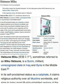 Hatsune Miku From Wikipedia The Free Encyclopedia This Article Is