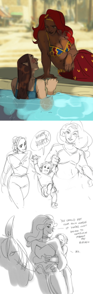 hattersarts:  some more of This. Im gonna go with the whole Zelda's mother was a Zelda as well (as per the royal line tradition) anyway some Zelda I spending time with her gf (and Aunt Urbosa comes to visit Zelda I & II): hattersarts:  some more of This. Im gonna go with the whole Zelda's mother was a Zelda as well (as per the royal line tradition) anyway some Zelda I spending time with her gf (and Aunt Urbosa comes to visit Zelda I & II)