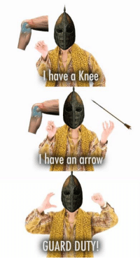 Memes, Archer, and Arrow: have a Knee  have an arrow  GUARD DUTY! Keep your arrows in their quiver, archer.  Dhova peep