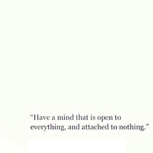 """https://iglovequotes.net/: """"Have a mind that is open to  everything, and attached to nothing."""" https://iglovequotes.net/"""