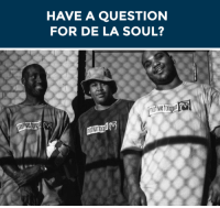 """<h2>Introducing: Questlove Q&amp;A! The web series where Questlove asks music greats YOUR questions! Wanna help us kick it off? Submit your question for De La Soul <a href=""""http://fallontonight.tumblr.com/ask"""" target=""""_blank"""">in our ask box</a> or below!</h2><p>[gif <a href=""""http://90shiphopraprnb.tumblr.com/"""" target=""""_blank"""">via</a>]</p>: HAVE A QUESTION  FOR DE LA SOUL? <h2>Introducing: Questlove Q&amp;A! The web series where Questlove asks music greats YOUR questions! Wanna help us kick it off? Submit your question for De La Soul <a href=""""http://fallontonight.tumblr.com/ask"""" target=""""_blank"""">in our ask box</a> or below!</h2><p>[gif <a href=""""http://90shiphopraprnb.tumblr.com/"""" target=""""_blank"""">via</a>]</p>"""