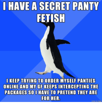 Have a panty fetish for