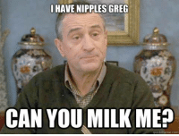 greg: HAVE NIPPLES GREG  CAN YOU MILK ME  quick meme com
