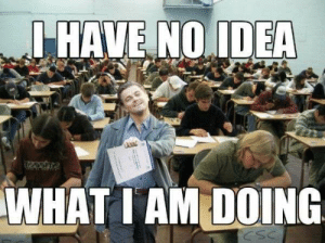 Funny Exam Memes (10 Pics): HAVE NO IDER  WHAT I AM DOING Funny Exam Memes (10 Pics)