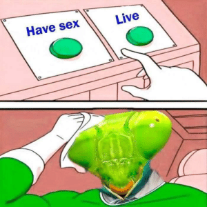 This is tricky: Have sex  Live This is tricky