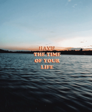Life, Time, and The Time: HAVE  THE TIME  OF YOUR  LIFE