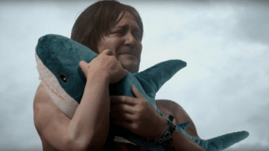 Have this pic of Norman Reedus holding an IKEA shark: Have this pic of Norman Reedus holding an IKEA shark