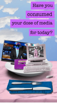 Today, Media, and You: Have you  consumed  your dose of media  for today? yumm yumm https://t.co/Rlce73qkx6