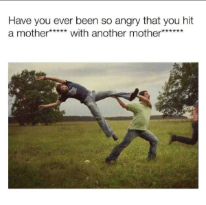 Reddit, Angry, and Been: Have you ever been so angry that you hit  a mother*****with another mother**** RIP both of ya