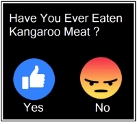 Yes, All Aussies Should Be Eating More Kangaroo: Have You Ever Eaten  Kangaroo Meat?  Yes  No Yes, All Aussies Should Be Eating More Kangaroo
