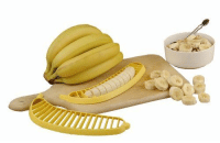"""Have you ever had to take 2 seconds to slice a banana and thought, """"There has to be a better way?"""": Have you ever had to take 2 seconds to slice a banana and thought, """"There has to be a better way?"""""""