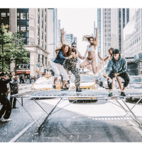 Have you ever put a trampoline in the middle of a major NYC avenue during rush hour and stopped traffic to pop a bottle of rosé and jump around with @mr.gregyuna, some of your friends, and your own mother? I have. 📸: @artmurri: Have you ever put a trampoline in the middle of a major NYC avenue during rush hour and stopped traffic to pop a bottle of rosé and jump around with @mr.gregyuna, some of your friends, and your own mother? I have. 📸: @artmurri