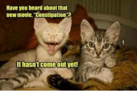 "constipation: Have you heard aboutthat  new movie, ""Constipation?  It hasn't come out yet!"