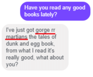 Gorge rr Martians: Have you read any good  books lately?  I've just got gorge rr  martians the tales of  dunk and egg book,  from what I read it's  really good, what about  you? Gorge rr Martians