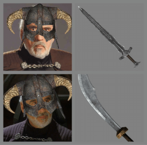 Have you seen those warriors from Hammerfell? They have curved swords! CURVED.... SWORDS!: Have you seen those warriors from Hammerfell? They have curved swords! CURVED.... SWORDS!