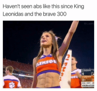 Some say she kicked a Persian through a bottomless pit: Haven't seen abs like this since King  Leonidas and the brave 300  3 Auburn 1  6  2nd 4:01 2  #AUBvsC LEI Some say she kicked a Persian through a bottomless pit