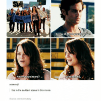 Funny, Movies, and Movie: Haven't you heard?  susemoji:  this is the saddest scene in this movie  Source: emstonesdaily  Screw all these people, Olive  already did. Easy A 💖