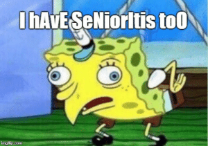 "Reddit, They, and  Say: hAvESeNiorltis to0 When Juniors say they have ""Senioritis"""