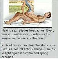Sex to relieve headaches