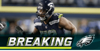 Philadelphia Eagles, Memes, and Michael Bennett: HAW  BREAKING Seahawks trading DE Michael Bennett to the @Eagles: https://t.co/hscgOksPFy (via @RapSheet) https://t.co/rOTO9H8PYI