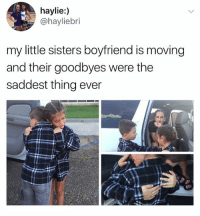 ??? how are they in a relationship they're like 8 wow ..: haylie:)  @hayliebri  my little sisters boyfriend is moving  and their goodbyes were the  saddest thing ever ??? how are they in a relationship they're like 8 wow ..