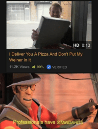 Pizza time: HD 0:13  I Deliver You A Pizza And Don't Put My  Weiner In It  11.2K Views  99% (0 VERIFIED  Professionals have STANDA Pizza time