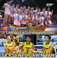 Baka hindi nyo magawa yan sa PSL dahil sa sobrang taas ng level of competitiveness. 😂  Photo Credits to: F2 Logistics Cargo Movers: HD  LADY WARRIORS  CHAMPIONS  DAEMIER VOLLEYRALL LEAGUE AFINFOANED CONFFAENCE.  3-TIME VLEAGUE CHAMPIONS  F2  SA PSLNYOGAWIN YAN! Baka hindi nyo magawa yan sa PSL dahil sa sobrang taas ng level of competitiveness. 😂  Photo Credits to: F2 Logistics Cargo Movers
