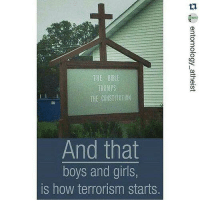 Memes, Constitution, and Terrorism: HE BIBLE  TRUMPS  THE CONSTITUTION  And that  boys and girls,  is how terrorism starts UZI