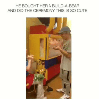 Gooools 🤖: HE BOUGHT HER A BUILD-A-BEAR  AND DID THE CEREMONY THIS IS SO CUTE Gooools 🤖