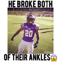 RIP both my mans ankles🔥 • • No balls says you follow me ( @stiffarmz )😈💦: HE BROKE BOTH  estiff Armz  OF THEIR ANKLES RIP both my mans ankles🔥 • • No balls says you follow me ( @stiffarmz )😈💦