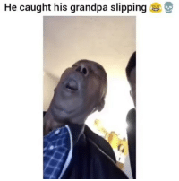 Funny, Grandpa, and Him: He caught his grandpa slipping Why he do him like that😂💀