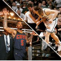 J.R. Smith, Kelly Olynyk, and Nba: he  CAW The NBA suspends J.R. Smith for 2 games and Kelly Olynyk for 1 game after their actions in Game 4. 🏀🚫