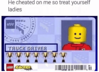 Cheating, Lego, and Legos: He cheated on me so treat yourself  ladies  media  LEG0  TRUCK DRIVER  LEGO RACERS