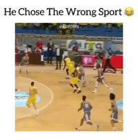 Lmao, Memes, and 🤖: He Chose The Wrong Sport  AISPORTS Lmao what a snag 😂