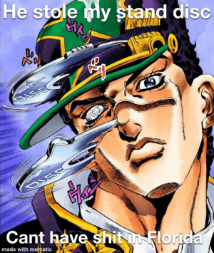 He collects stand disc's like action figures >!spoiler!<: He collects stand disc's like action figures >!spoiler!<