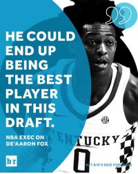 De'Aaron Fox over Markelle Fultz and Lonzo Ball? The Kentucky guard has scouts drooling over his one-of-a-kind talent. [link in bio]: HE COULD  END UP  BEING  THE BEST  PLAYER  IN THIS  DRAFT.  SEC  AUCKY  NBA EXEC ON  DE AARON FOX  HAT BIR'S REID FOR De'Aaron Fox over Markelle Fultz and Lonzo Ball? The Kentucky guard has scouts drooling over his one-of-a-kind talent. [link in bio]