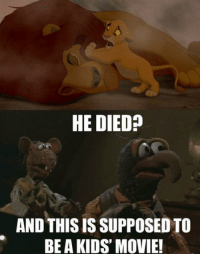 Disney :( http://filmtrailers.net/: HE DIED  AND THISIS SUPPOSED TO  BEA KIDS' MOVIE! Disney :( http://filmtrailers.net/