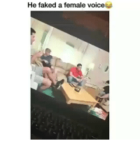 Funny, Voice, and Day: He faked a female voice Classic clip of the day 😭😂