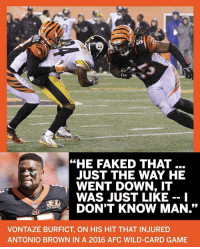 """Just stop @King55Tez, you're embarrassing yourself badly.... https://t.co/lVbKkB7hYq: """"HE FAKED THAT  JUST THE WAY HE  WENT DOWN, IT  WAS JUST LIKE -- 