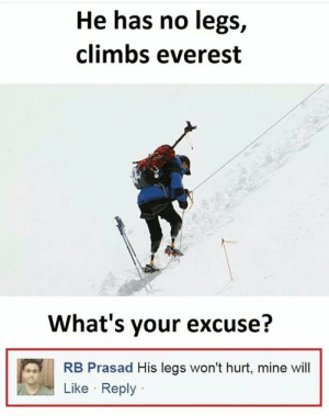 They really would.. by somu69 MORE MEMES: He has no legs,  climbs everest  What's your excuse?  RB Prasad His legs won't hurt, mine wil  Like Reply They really would.. by somu69 MORE MEMES